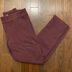 Maroon Stretchy Business Casual Trousers